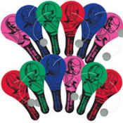 Power Rangers Paddle Balls 12ct