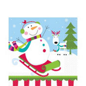 Joyful Snowman Lunch Napkins 16ct