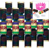 Jewel Tones Deluxe Crackers 9 1/2in 8ct
