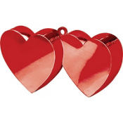 Double Heart Balloon Weight 6oz