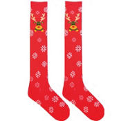 Reindeer Knee High Socks