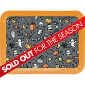 Happy Hauntings Metal Tray 16in