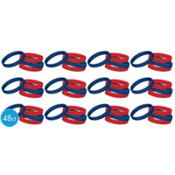 Patriotic Wristbands 2 1/2in 48ct25¢ per piece!