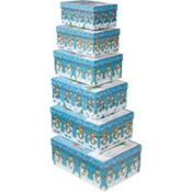 Snowmen Large Nesting Boxes 6ct