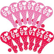 Valentine's Day Paddle Balls 12ct