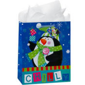 Large Chilly Penguin Gift Bags 12 1/4in 8ct