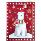 Super Jumbo Polar Bear Gift Bag 25in