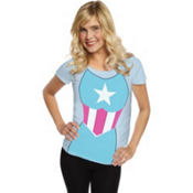 Adult Captain America Girl T-Shirt