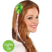 Light-Up St. Patricks Day Hair Extension 15in