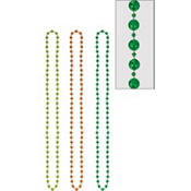 St. Patricks Day Disco Bead Necklaces 48in 3ct