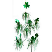 Foil Shamrock Hanging Decoration 26in
