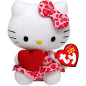 Valentines Hello Kitty Plush 8in