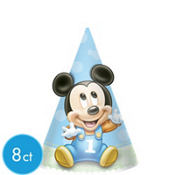 Mickey Mouse 1st Birthday Party Hats 8ct