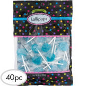 Caribbean Blue Lollipops 40pc