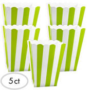 Green Popcorn Favor Boxes 5ct