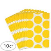 Yellow Dot Paper Favor Bags 10ct