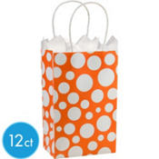 Orange Dot Mini Gift Bag 12ct