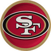 San Francisco 49ers Lunch Plates 18ct