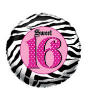 Foil Super Stylish Sweet 16 Balloon 18in