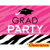 Zebra Party Graduation Invitations 50ct