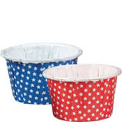 Patriotic Star Nut Cups 24ct