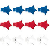 Red, White & Blue Star Whistles 12ct