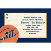 Utah Jazz Custom Invitation