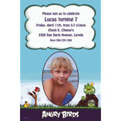 Angry Birds Custom Photo Invitation