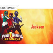 Power Rangers Custom Thank You Note