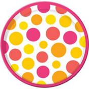 Summer Warm Round Platter 13in