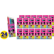 Minnie Mouse Colored Pencils 24pks