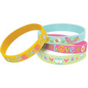 Hippie Chick Wristbands 4ct