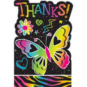 Neon Doodle Thank You Notes 8ct