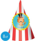 1st Birthday Fisher-Price Circus Party Hats 8ct