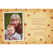 Vintage Holiday Stars Custom Photo Card
