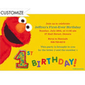 Elmo 1st Birthday Custom Invitation