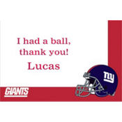 New York Giants Custom Thank You Note