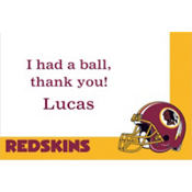 Washington Redskins Custom Thank You Note