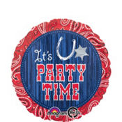 Foil Bandana & Blue Jeans Party Balloon 18in
