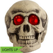 Light-Up Red Eyes Skull