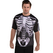 Adult Black and Bone T-Shirt - Skeleton