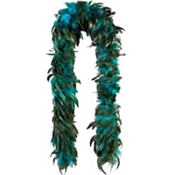 Turquoise Fantasy Feather Boa Deluxe 72in