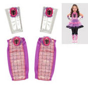 Child Spider-Girl Arm and Leg Warmers Set