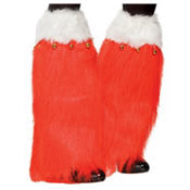 Adult Christmas Furry Leg Warmers
