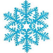 Glitter Blue Snowflake 11in