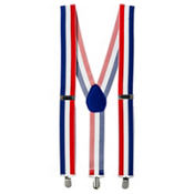 Patriotic Striped Suspenders