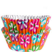 Daisy Flower Foil Baking Cups 36ct