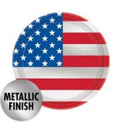 American Flag Dessert Plates 8ct