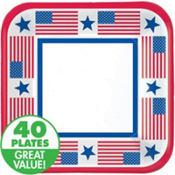 Stars & Stripes Patriotic Lunch Plates 40ct