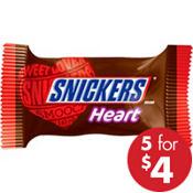 Milk Chocolate Snickers Heart